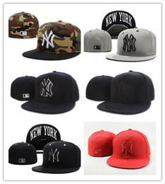 df19abae948e6 2019 Comercio al por mayor Elastic Eagles gorra de béisbol NY equipado  hombres mujeres Verano equipado sombrero completo Cerrado elástico Sombreros  Hombre ...