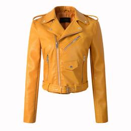 costumes de spectacle réguliers Promotion Automne PU Veste En Cuir Femmes Mode Manteau De Moto Femmes Printemps Bomber Veste Faux Cuir Court Biker Chaqueta mujer