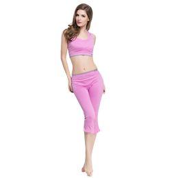 Canada Dames Yoga Ensembles Pantalon de Soutien Gym Workout Sports Porter Femme Survêtement Sans Manches T-shirt Débardeur Gilet Pantalon Gym Casual Vêtements Ensemble Offre
