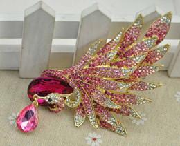 Argentina Pin Phoenix rosa, adornos de viento europeos y americanos, broche, taladro de color, broche animal, abrigo, accesorios de vestir. Suministro