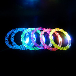 bubble lights free shipping Promo Codes - New Bubble style LED light up toys Led flashing blinking bracelet for Christmas party decoration for free ship