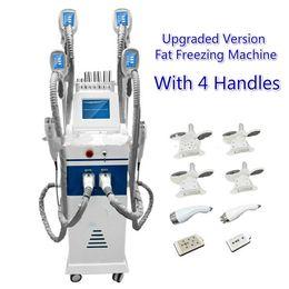 máquina de lipofreeze Rebajas Profesional 4 cabezas Cryotherapy que adelgaza la liposucción que congela gorda Body Sculpting Lipofreeze Wight Cryo de la pérdida que adelgaza la máquina CE / DHL