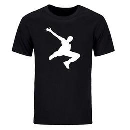 Camicie per ballerini online-Estate moda Parkour Dancer ragazzi hip hop impressionante magliette manica corta 100% cotone uomo casual manica corta girocollo cime te-DIY 0457D