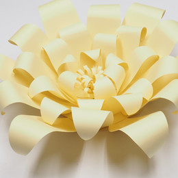 Luz Amarillo1 pieza Flores de Papel Gigante Decoración de Pared de la Fiesta de Niños Decoración de la Boda Ducha nupcial Bebé Foto Telón de fondo Grandes Flores desde fabricantes