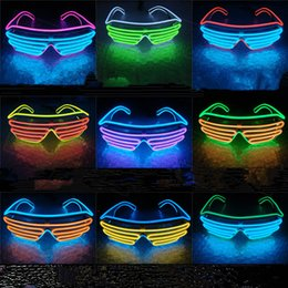 2019 party brillen Licht LED Gläser Bright Light Party Gläser Club Bar Leistung Glow Party DJ Dance Brillen T2I056 günstig party brillen