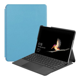 tablet mais fino Desconto 2018 novo magro magnético suporte flip capa boa pu leather case para microsoft surface go 10 polegada tablet protetora da pele shell