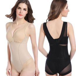 Wholesale Postpartum Shaper - Slimming Burn Fat Briefs Shapewear Tummy Slim Bodysuit Full Body Shaper Postpartum Recovery Shapewear Corset OOA4464
