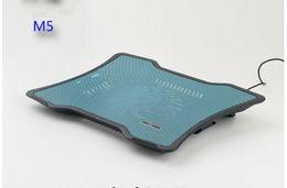 Parte inferior del portátil online-Notebook Cooler blanco ultra delgado 1.9 cm silencioso portátil protector de calor soporte cojín inferior almohadillas de enfriamiento para laptop