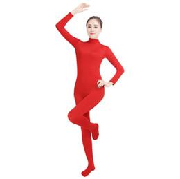 (SWH024) Roter Spandex-voller Körper-Haut-fester Overall Zentai-Anzug-Bodysuit-Kostüm für Frauen / Männer Ganzanzug Lycra Dancewear von Fabrikanten