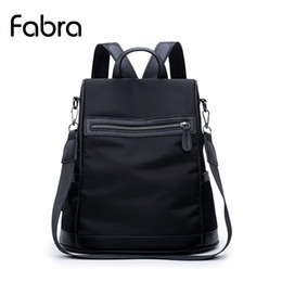 Wholesale Korean Multi Backpack - Fabra Patchwork Waterproof Nylon Women Backpack Bags Fashion Casual Shoulder Bag Small Black Daily Packs Korean Style Bag Black