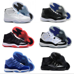 2018 Hombres Zapatos de baloncesto 11 Venta caliente Zapatillas de deporte de alta calidad Botas de descuento Negro Rojo Zapatos deportivos Tamaño 8-13 desde fabricantes