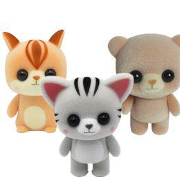 Muñeca plástica flocado regalo de cumpleaños linda chica café color café Meng oso gato ardilla baratijas juguetes creativos DHL envío gratis desde fabricantes