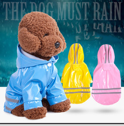 Wholesale Waterproof Hooded Poncho - 6 Color Hooded Pet Dog PU Reflection Raincoats Waterproof Clothe For Small Dogs Chihuahua Yorkie Dog Rain coat Poncho Puppy Rain Jacket S-XL