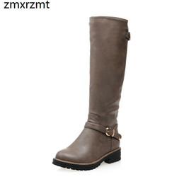 2019 femmes belle led de genou haute bottes femmes 3cm chaussures à talon bas printemps automne chaussures de fête grande taille 33-43 ? partir de fabricateur
