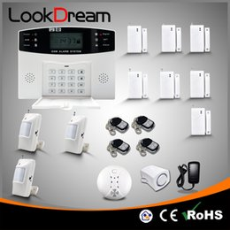 Wholesale free residential - Upgrade Wireless GSM Home Alarm Systems Residential Burglar Security With Auto Dial Voice SMS By DHL Free