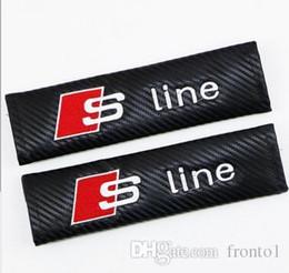 Ajustement en Ligne-Coussin d'épaule de protection de ceinture de sécurité en fibre de carbone pour Fit for FOR SA SA Audi Sline AMG ST VOLVO Ford LAND ROVER