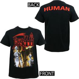 Todeskunst online-Details zu Authentic DEATH Band Human Album Cover Kunst T-Shirt Lustiges freies Verschiffen Unisex Beiläufiges Geschenk