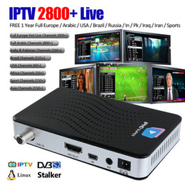 Wholesale Dvb Tv Box - DVB S2 Smart TV Box Linux OS with 1 Year IPTV Service 2800+ channels 4K Mini PC Wifi Stalker