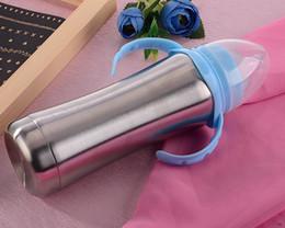 2019 tazze di infermiere Flacone per infermieri in acciaio inox con capezzoli in silicone per alimenti per neonati Latte per neonati Bottiglie per neonati 8 oz Coppe per bambini