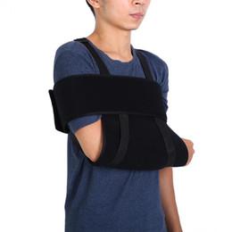 Reggicalze del gomito online-Braccio medico regolabile spalla gomito supporto gomito immobilizzatore brace rotto fratturato braccio cinturino ferita distorsione braccio brace sling