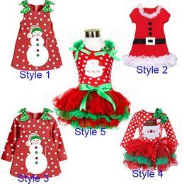 Wholesale Lemon Fancy Dress - Fashion Princess Baby Girls Christmas Fancy Ball Dress Children Kids Merry Christmas Carnival Party Costumes For Toddler Girl