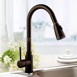 "Pia marrom on-line-Pull-Out Faucet Spray Swivel 16 ""Pia da cozinha Dark Brown Pull-Down encanamento Novo"