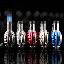 Antorcha de gas de cocina online-Grenade Shaped Jet Butane Encendedor a prueba de viento 3/4 Antorchas Encendedores de múltiples colores SIN gas para fumar Cigarrillo Herramientas de cocina