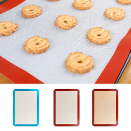 Wholesale Food Barbecue - Silicone Baking Mat Bakeware Oven Non Stick Cookie Tray Heat Resistant Food Grade Non-stick Silicone Fiberglass Kitchen Tools BBA336