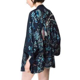Wholesale Phoenix Color - Hot! New Bats Sleeve Lady Cardigan Kimono Jacket Shawl Lichia Harajuku Kimono Women Phoenix Printed Sleeve Loose Women Top