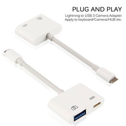 Wholesale Ipad Professional - Lightning to USB 3 Camera Reader Adapter Cable For iPhone 5S 6 7 8 Plus iPhoneX iPad iOS11 Data Sync Charge Kable Professional Connector