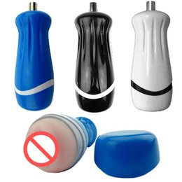 male anal toy machine Promo Codes - Male Masturbator Cup with Mini Bullet Vibrating Sex Massager Anal Pocket Pussy Cup Sex Machine Accessory Sex Toys for Men B2-1-56
