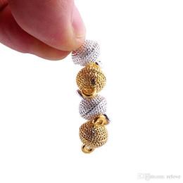 Круглый шар магнитный Магнит ожерелье застежки для ожерелье браслет DIY ювелирных изделий золото посеребренные застежки ювелирных изделий от Поставщики круглая магнитная застежка