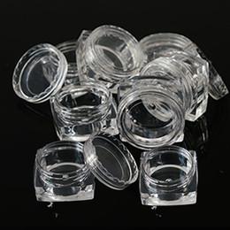 Пластиковые прозрачные квадратные бутылки онлайн-20pcs Portable Plastic Clear Cosmetic Empty Jar Pot Box  Nail Art Cosmetic Bead Storage Container Square Bottle LA415