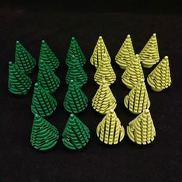 Mini albero di natale diy online-Albero di Natale Green Building Building Blocks Mini Trees Plants DIY Blocks Baseplate Small Bricks Figure Base Toy for Children