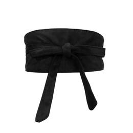 Corsets souples en Ligne-Mode femmes ceinture Doux faux daim Bowknot Body Shaping Bands Large Ceintures corset ceinture femme match robe ceintures pour les femmes