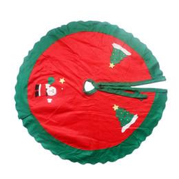 Wholesale Santa Christmas Wrap - Stylish Christmas Tree Skirt Circle Santa Claus Pattern ation Apron Wrap Xmas Simple