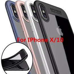 Wholesale Cheap Iphone Backs - Cheap Phone Cases For iPhone X Phone Cases Back Cover Cases High Quality TPU Clear Shockproof Case Phone Protector