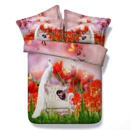 re del comforter del pavone Sconti 3D biancheria da letto pavone floreale set copripiumino animale copriletti argento copriletto Biancheria da letto Copripiumini per adulti ragazzi ragazzi uomini