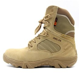 Wholesale boots tactical khaki - Hot Men Hiking Climbing Shoes DELTA Professional Waterproof Hiking Boots Tactical Boots Outdoor Mountain Climbing Sports Sneakers