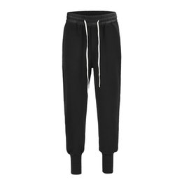 Модные сапоги онлайн-Мужские высокое качество лодыжки полосатые брюки 2018ss японская мода упругие талии бегунов скейтборд брюки загрузки брюки мужчины хип-хоп случайные тренировочные брюки