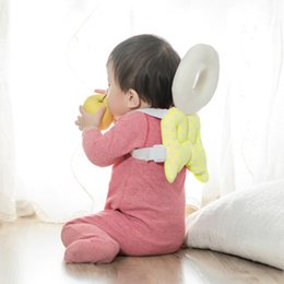 Wholesale wholesale nursing pillows - Baby Head protection pad Toddler headrest pillow baby neck Cute wings nursing drop resistance cushion bebe bedding backpack Mat