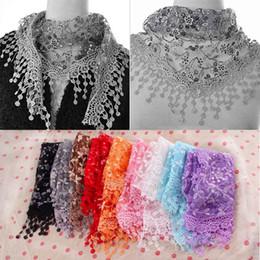 Лето Леди кружева кисточкой треугольник шарф Sheer металлические женщины повязки цветочные шарфы Шаль женский bufanda mujer от
