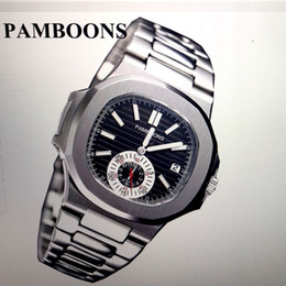 Wholesale Watch Water Proof - NEW TOP LUXURY MENS BEST WATCH PAMBOONS CASUAL DATE WTCH AUTOMATIC SPORTS WRIST WATCH WATER PROOF STAINLESS STEEL