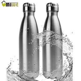 2019 taza plegable telescópica de acero inoxidable 500ML Acero inoxidable Cola botella de vacío de doble pared con aislamiento frasco de vacío botella de agua Deporte Copa viajes