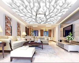 Wholesale Vinyl Ceiling - wallpaper children Vector atmospheric abstract twig shape ceiling kitchen vinyl wallpaper