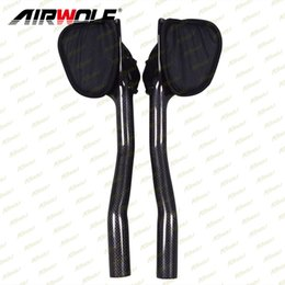 guidon plat vtt Promotion Airwolf Bicycle Parts Carbone triathlon guidon Extender 3K armure tt guidon mat ou brillant tt bar