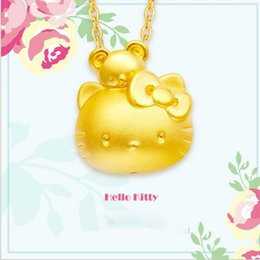Wholesale kt jewelry - KT koala and comic cats 3D gold pendants Korean Shajin euro necklaces jewelry wholesale