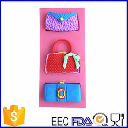 Wholesale Cake Bag Design - Wholesale- cake silicone mold , cake bake tool , fashion bag design for cake decoration