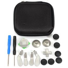 1 juego de reemplazo de parachoques de metal Botones de gatillo Pistola para pulgares para XBOX One Elite Controller con destornilladores Bolsa de almacenamiento desde fabricantes