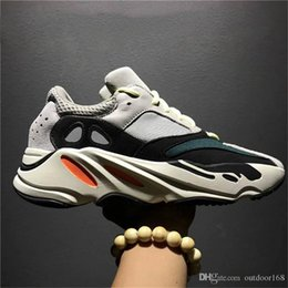 Wholesale Womens Leather Lace Up Boots - Boost 700 Wave Runner 2018 Kanye West Running Shoes Men's Shoes Womens Sneakers Men Women Sports Boots 700 Boost Sport Shoes With Box
